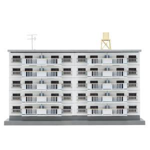 アオシマ 1/ 150 建築ロマン堂 団地 2棟セット(03814)プラモデル 返品種別B|joshin