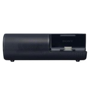 ソニー ポータブルドックスピーカー(ブラック)NW-Aシリーズ、NW-Sシリーズ、NW-E080シリーズ対応 SONY RDP-NWT19-B 返品種別A