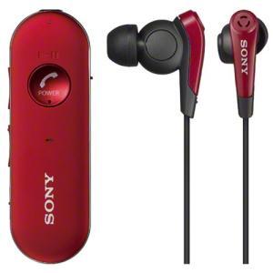 ソニー ノイズキャンセリング搭載Ver.3.0 Bluetoothヘッドセット(レッド) SONY MDR-EX31BN-R 返品種別A|joshin