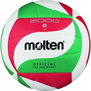 モルテン バレーボール Molten ミシン縫いバレーボール 5号球(レジャー用)白×赤×緑 MT-V5M2000 返品種別A|joshin
