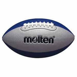 モルテン ラグビーボール Molten フラッグフットボール ジュニア シルバー×ブルー 横の周囲48〜50cm MT-Q4C2500SB 返品種別A|joshin