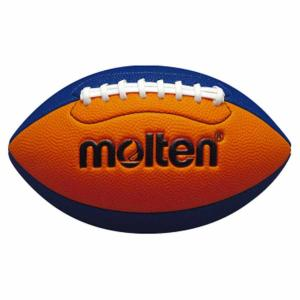 モルテン ラグビーボール Molten フラッグフットボールミニ オレンジ×ブルー 横の周囲40〜42cm MT-Q3C2500OB 返品種別A|joshin
