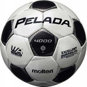 モルテン サッカーボール 5号球(人工皮革) Molten PELADA ペレーダ4000 WHBK F5P4000 返品種別A|joshin