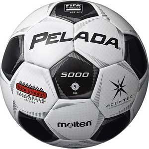 モルテン サッカーボール 5号球(人工皮革) Molten PELADA ペレーダ5000 土用 F5P5001 返品種別A joshin