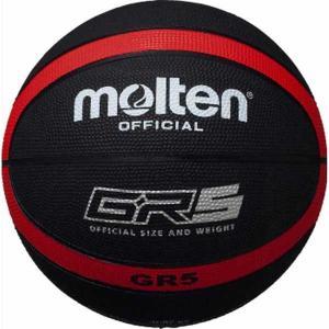 モルテン バスケットボール Molten GR5 ゴムバスケットボール 5号球 ブラック×レッド MT-BGR5KR 返品種別A|joshin
