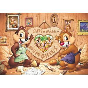 テンヨー ディズニー 想い出づくり(チップ&デール)写真が飾れるジグソー 200ピースジグソーパズル 返品種別B
