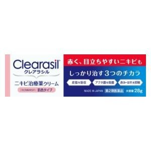(第2類医薬品) レキットベンキーザー・ジャパン クレアラシル ニキビ治療薬クリーム肌色タイプ28g  返品種別B|joshin
