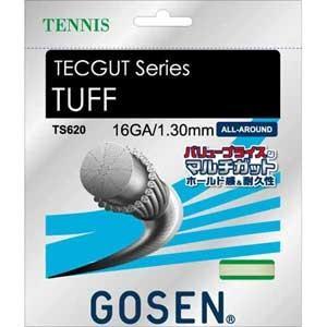 ゴーセン 硬式テニス用ガット タフ16(ホワイト・1.30mm×12.2m) GOSEN TECGU...