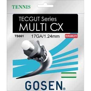 ゴーセン 硬式テニス用ガット マルチCX17(ナチュラル・1.24mm×12.2m) GOSEN T...