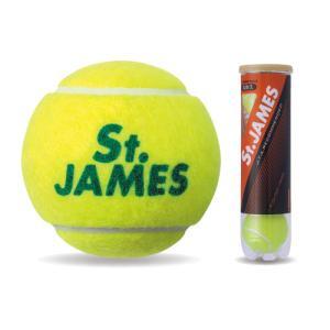 ダンロップ プレッシャーライズド 硬式テニスボール (イエロー4球入) St.JAMES セント・ジェームス 4ヶ入ボトル STJAMESE4DOZ STJAMES 4P 返品種別A