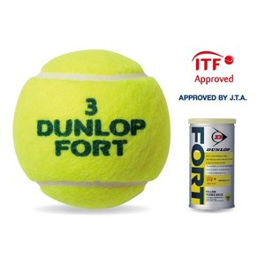 ダンロップ 硬式テニスボール(イエロー・2球入り) DUNLOP FORT フォート DFDYL2D...