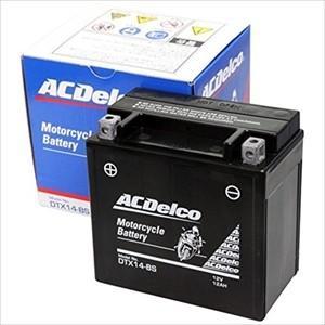 ACデルコ バイク用バッテリー(電解液注入・充電済)(他商品との同時購入不可) DTX14-BS 返品種別A|joshin