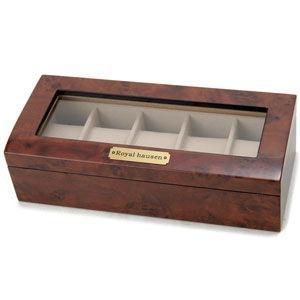 ベローナ 木目調時計収納ケース(5本収納) 189962 返品種別B|joshin