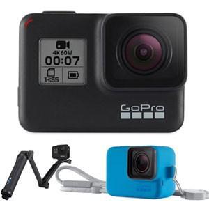 GoPro GoPro HERO7 Black 3-Way スリーブランヤード(ブルー)限定セット ゴープロ ヒーロー7 CHDHX-701-FW 返品種別A|joshin