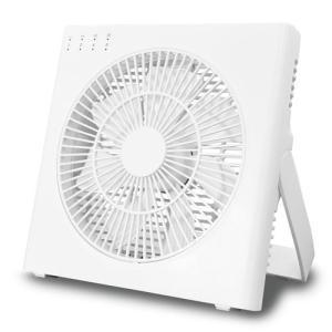 トップランド (扇風機)DCモーター搭載 卓上扇(ホワイト) TOPLAND どこでもFAN コードレス DCボックスタイプ SF-DFC20-WT 返品種別A|joshin