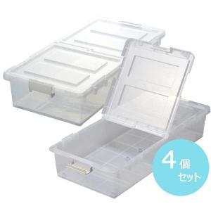 ジェイ・イー・ジェイ ベッド下収納ボックス 4個セット (クリア) JEJ 9504229 返品種別A|joshin