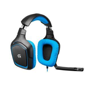 ロジクール 7.1chサラウンドサウンド ゲーミングヘッドセット(ブラック・ブルー) Logicool G430 Surround Sound Gaming Headset G430 返品種別A|joshin