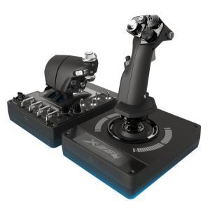ロジクール RGB対応 スロットル&スティック式シミュレーションコントローラー Logicool X56 HOTAS G-X56R 返品種別A|joshin