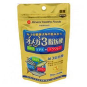 オメガ3脂肪酸 62球 ミナミヘルシーフーズ オメガ3シボウ...