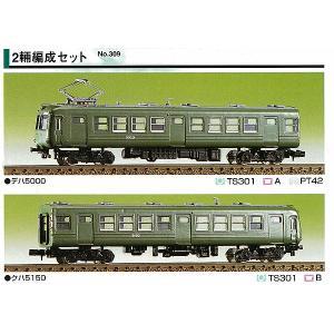 グリーンマックス (再生産)(N) 309 東急旧5000系 2輌編成セット(未塗装組立キット) 返品種別B joshin