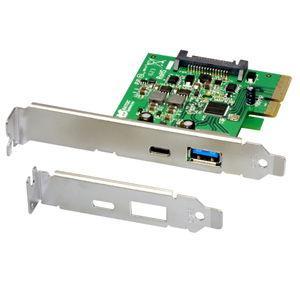 ラトックシステム PCI Express×4用 USB3.1(Type-A/ Type-C)増設インターフェースボード REX-PEU31-AC 返品種別A|joshin