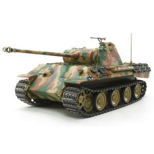 タミヤ 1/ 25 電動RC組立キット ドイツ戦車 パンサーA(専用プロポ付き)(56605) 返品種別B