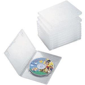 エレコム DVDトールケース、1枚収納、10個入(クリア) CCD-DVD03CR 返品種別A