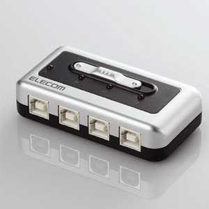 エレコム USB2.0/ 1.1準拠USB切替器(4回路) U2SW-T4 返品種別A|joshin