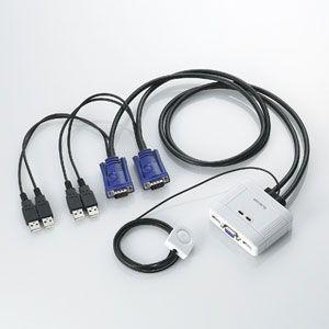 エレコム USBパソコン切替器 2切替 KVM-KUSN 返品種別A joshin