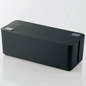 エレコム ケーブルボックス 幅400mm(ブラック) EKC-BOX001BK 返品種別A