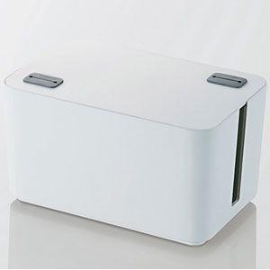 エレコム ケーブルボックス 幅250mm(ホワイト) EKC-BOX002WH 返品種別A
