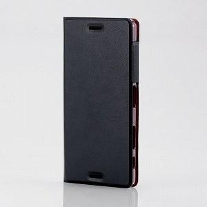 エレコム Xperia X Performance(SO-04H/ SOV33)用 レザーケース 薄型 マグネット付 ブラック PM-SOXPPLFUMBK 返品種別A|joshin