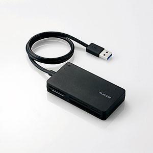 エレコム USB3.0高速メモリカードリーダ(ソフト付属) MR3-A014SBK 返品種別A|joshin