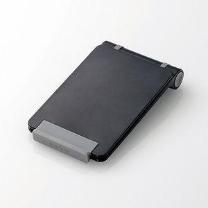 エレコム タブレット用コンパクトスタンド ブラック TB-DSCMPBK 返品種別A|joshin