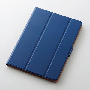 エレコム 9.7インチ iPad(2017年モデル)用 フラップカバー 360度(ブルー) ELECOM TB-A179WVSMBU 返品種別A|joshin