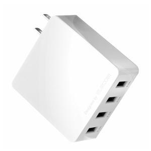 エレコム スマートフォン・タブレット用USB充電器(4ポート4.0A/ ホワイト) MPA-AC4U001シリーズ MPA-AC4U001WH 返品種別A joshin