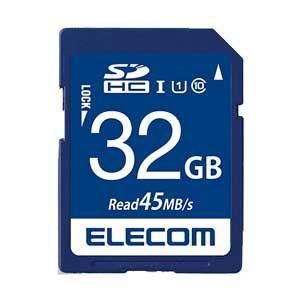 エレコム SDHCメモリカード 32GB Class10 UHS-I MF-FS032GU11R 返品種別A|joshin