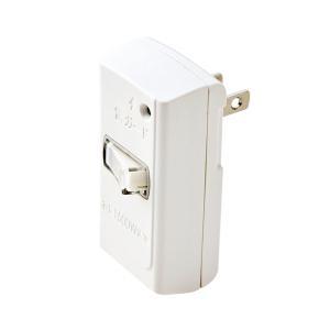 エレコム スイッチタップ 2ピン 1個口 雷ガード・スイッチ付き(ホワイト) ELECOM T-KTR02WH 返品種別A|joshin