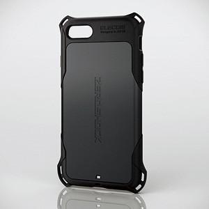 エレコム iPhone 8/  7用 ZEROSHOCK スタンダード(ブラック) PM-A17MZEROBK 返品種別A|joshin