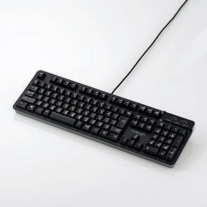 エレコム USBハブ付有線プレミアムメンブレンキーボード ELECOM TK-FCM094HBK 返品種別A|joshin