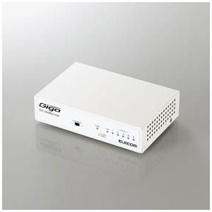エレコム 5ポート スイッチングハブ(ホワイト)1000/ 100/ 10Mbps対応(メタル筐体/ 電源内蔵モデル) EHC-G05MN2-HJW 返品種別A|joshin