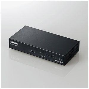 エレコム 1000BASE-T対応 スイッチングハブ 8ポート(ブラック) [メタル筐体/ 電源内蔵]EHC-GXXMN2シリーズ EHC-G08MN2-HJB 返品種別A|joshin