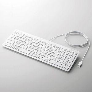 エレコム 有線 薄型コンパクトキーボード(ホワイト) TK-FCP097WH 返品種別A|joshin