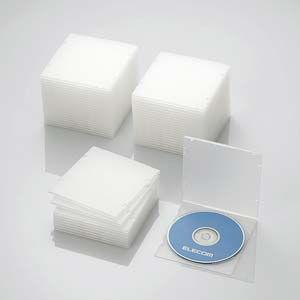 エレコム Blu-ray/ DVD/ CDケース 50枚セット(スリム/ PP/ 1枚収納・クリア) CCD-JPCS50CR 返品種別A