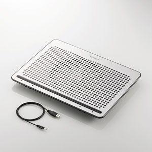 エレコム ノートPC用クーラー(角度調節・強冷タイプ) 15.4〜17インチ対応 SX-CL22LSV 返品種別A|joshin