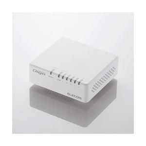 エレコム Giga対応 5ポート スイッチングハブ マグネット付(ホワイト) elecom EHC-G05PA-JW-K 返品種別A|joshin