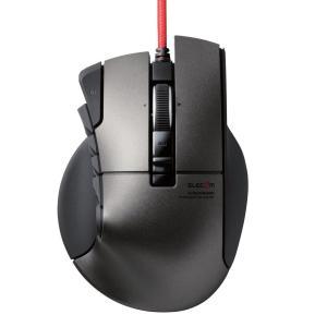 """エレコム USB有線光学式 14ボタンチルトホイール MMOゲーミングマウス(ブラック) """"DUX""""(ドゥクス) M-DUX50BK 返品種別A"""