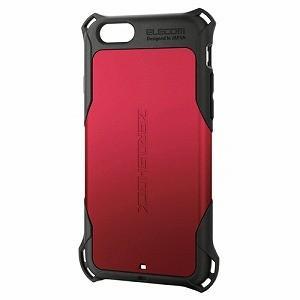 エレコム iPhone 6s/ 6用ZEROSHOCKケース(レッド) PM-A15ZERORD 返品種別A|joshin