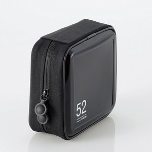 エレコム CD/ DVDファスナーケース 52枚収納(ブラック) CCD-H52BK 返品種別A