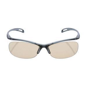 エレコム ブルーライト対策眼鏡 65%カット(リムレスタイプ・ネイビー) PC GLASSES OG-YBLP01NV 返品種別A|joshin